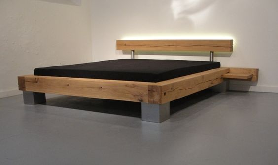 Solid Wood Beds by Ign Design Natural bedroom, Minimalist and - dream massivholzbett ign design