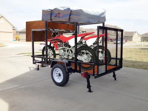 Roof Top Tent Trailer Dirt Bike Off Road Trailers