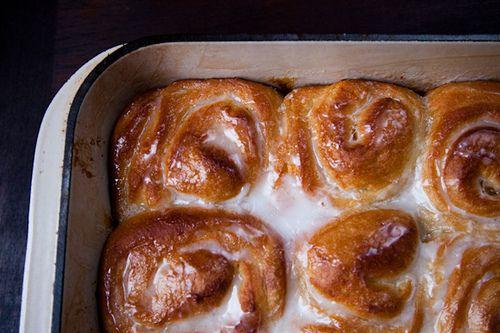 Orange scented Olive Oil Sticky Buns--Libby says these look like me. Don't think I've ever had such a compliment.