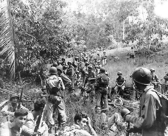 U.S. Marines rest in the field during the Guadalcanal campaign in November 1942