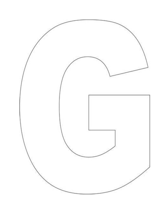 G  Printable Alphabet Let...