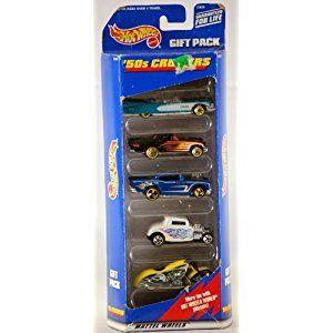 1998 - Mattel - Hot Wheels - '50s Cruisers - Gift Pack - Eldorado / T-Bird / 57 Chevy / Hot Rod / Motorcycle - OOP - Rare - Collectible Set