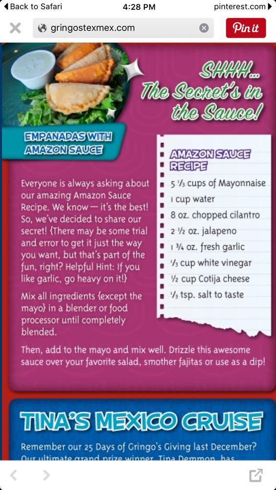 Amazon Sauce Recipe