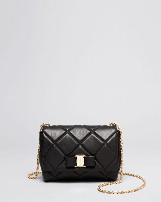 where can i buy a celine handbag - Salvatore Ferragamo Mini Bag - Soft Quilted Miss Vara Bow ...
