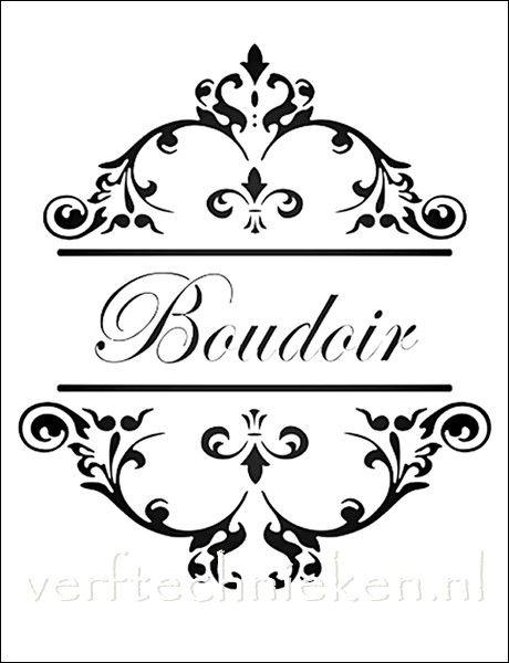 shabby chic sjabloon boudoir verkrijgbaar in a3 formaat exclusief bij d co. Black Bedroom Furniture Sets. Home Design Ideas