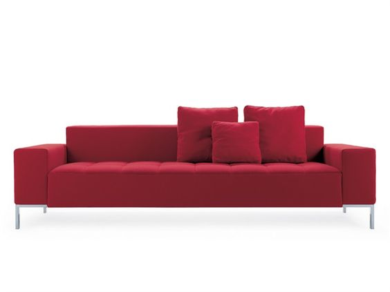 Upholstered fabric sofa Alfa Collection by Zanotta | design Emaf Progetti