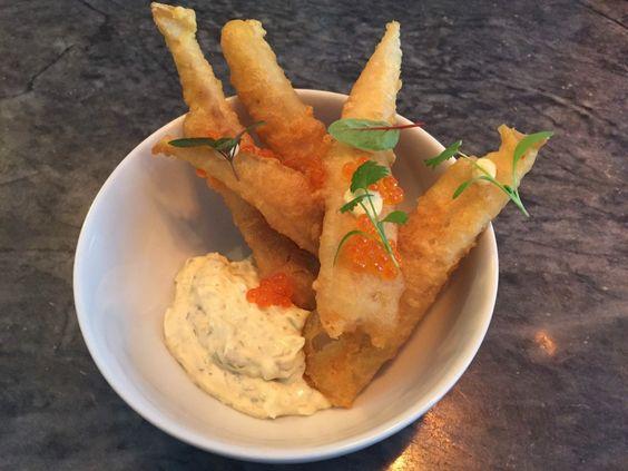 tempura de robalo c/ molho tártaro