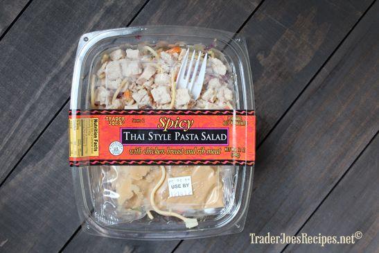 Trader Joe's Spicy Thai Style Pasta Salad 8c cooked angel hair pasta ...