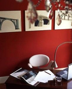 Red Interior Paint Colour