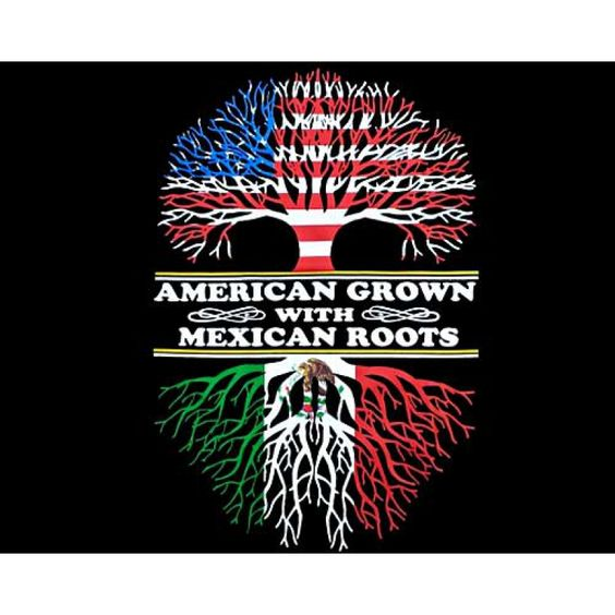 """""""American Grown With Mexican Roots"""" T-Shirt. So Mexican Store, funny Mexican t shirts. American Grown With Mexican Roots in stock!"""