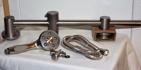 Speakman Massage Diverter Slider Shower System in Bruch Nickel VS-122007-BN #Speakman #Traditional