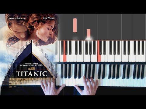 Titanic My Heart Will Go On Piano Facile Tutorial How To Play Youtube Piano Music Piano Learn Piano