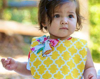 Baby girl bib / bow bib / floral