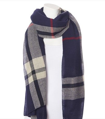 Grand foulard à carreaux