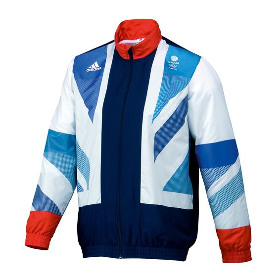 Team GB Olympic Presentation/Anthem jacket by Adidas. I want this SO bad. I know I'm a traitor, right? But no worries its only in youth sizes here on the website so I won't be able to actually wear it.