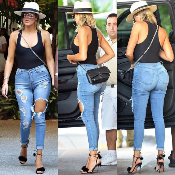 """9,408 Likes, 115 Comments - KhloMoney & King Bey (@khloyonce) on Instagram: """"Khloé out for lunch and shopping in Miami, FL Love this look! ✔️ 