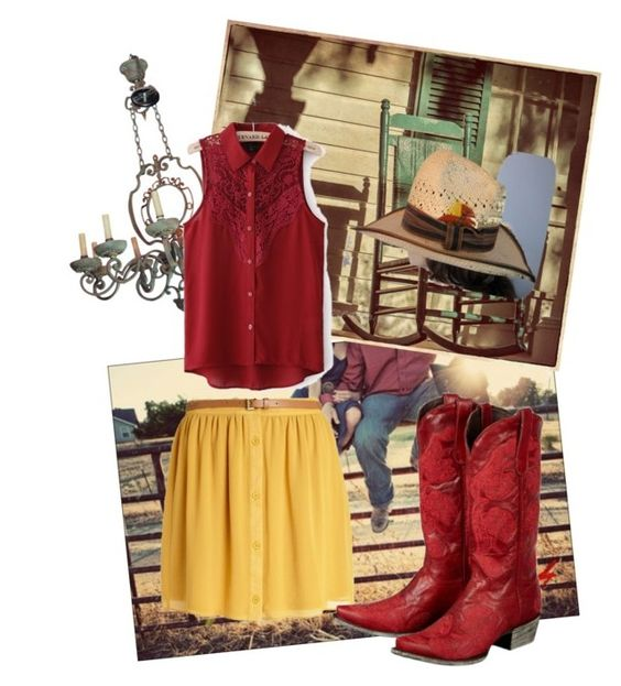 """Out in the Country"" by jolie-dame ❤ liked on Polyvore featuring River Island and country"