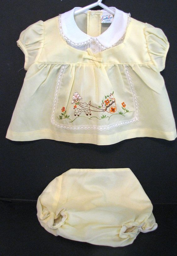 Vintage Easter Baby Outfit Cradle Togs 1970s: