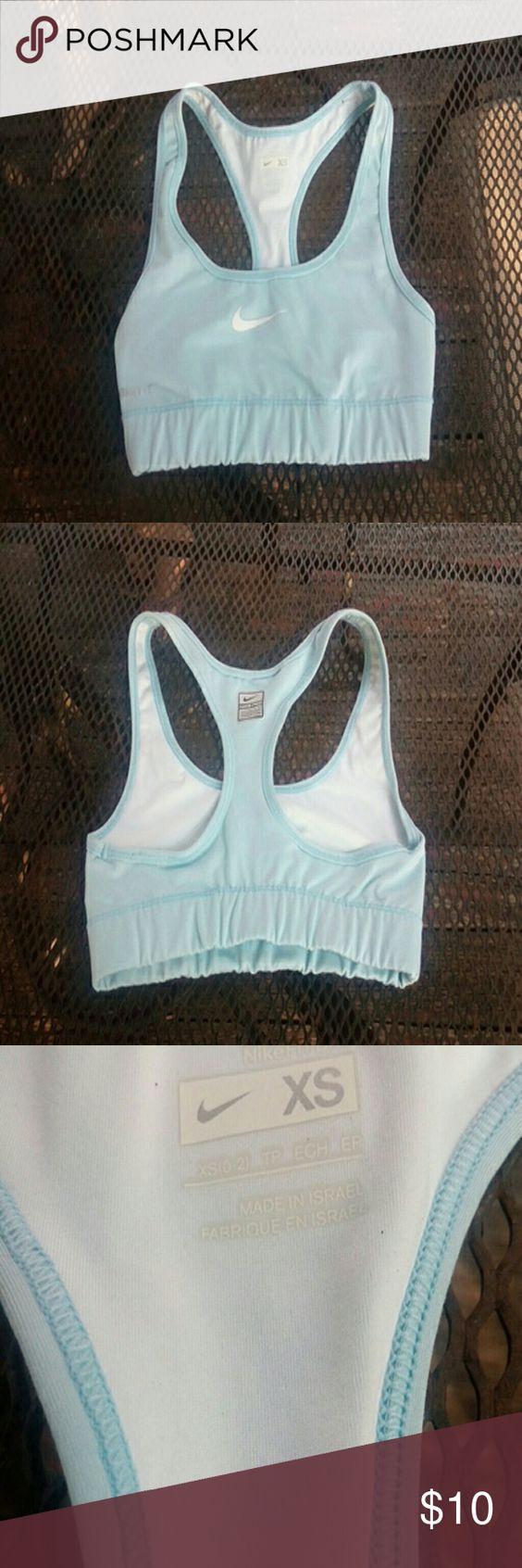 Nike Sports bra Nike pro light blue and white Nike Intimates & Sleepwear Bras