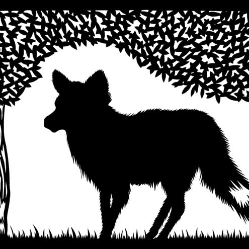 The Fox - Hand pulled screen print