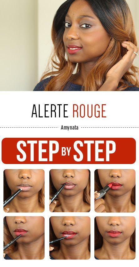 """Amynata du blog """"Amy and the City"""" vous dévoile les secrets d'une bouche rouge : Crayon Haute Définition pour les Lèvres (#82611) - Lip Liner & Blending Brush """"Red"""" (#82206) - Rouge à Lèvres Hydratant Studio """"Red Carpet"""" (#82640) - Poudre Haute Définition (#83331) -  Pinceau à lèvres Rétractable (#84016) http://www.eyeslipsface.fr/"""