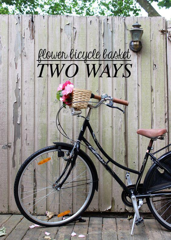 DIY Bicycle Flower Basket - Two Ways #DIY #bicycle