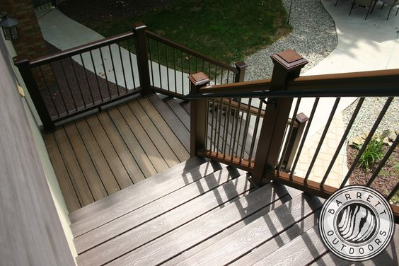 This is what a quality stair look like Barrett Outdoors does a good job