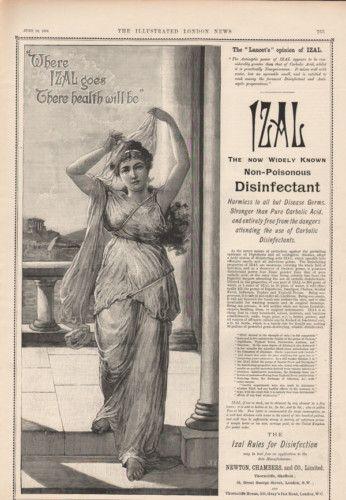 1894 Izal Greek Goddess Dress Robe Fashion Mythical God Quack Medicine Ad   eBay.