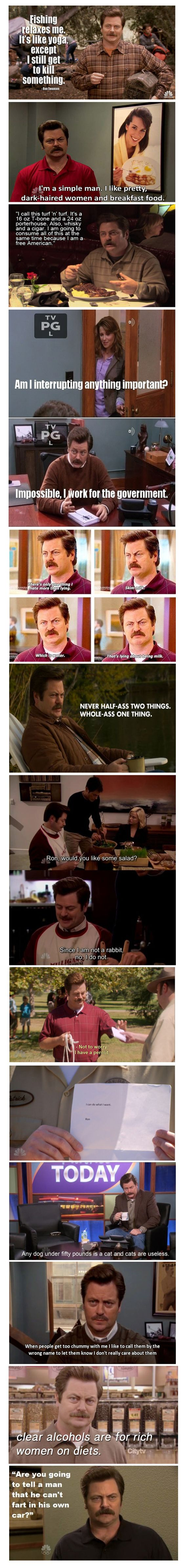 12 of the Best Ron Swanson Quotes | You Just Need To Shut UPYou Just Need To Shut UP