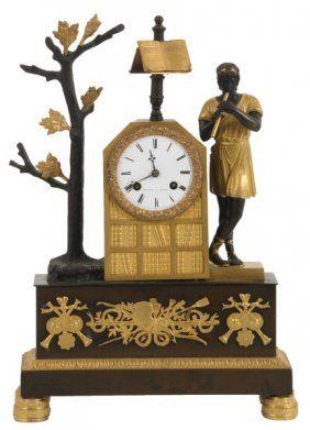 A. Duminil French Bronze Silk Thread Clock