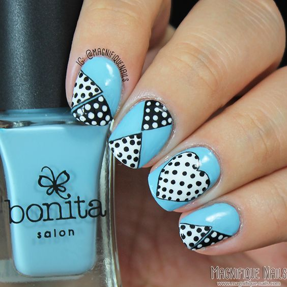 Magnifique Nails: Mani Swap & Day 5: Blue Nails