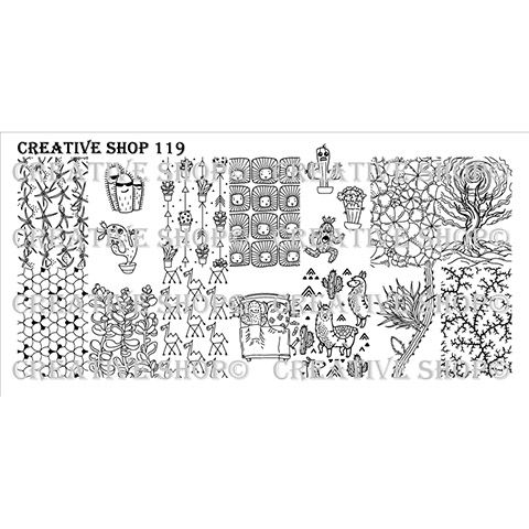 Creative Shop- Stamping Plate- 119