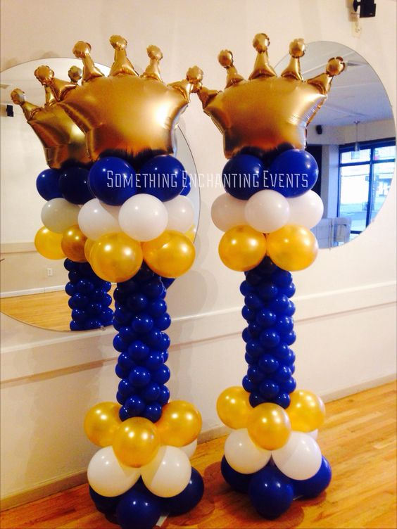 Crowns balloons and baby showers on pinterest