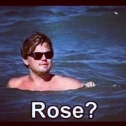 048730709c0fb3d1f7d0b49eccd21d2b lmao titanic lmao leo! titanic rose the water would be prettier in pr,Meme Rose