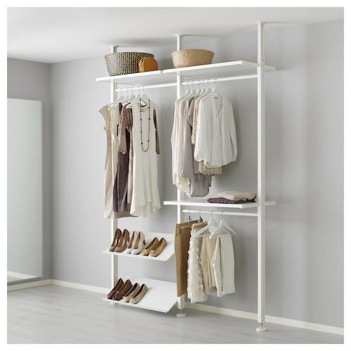 Elvarli 3 Sections White Ikea Clothes Storage Systems Ikea
