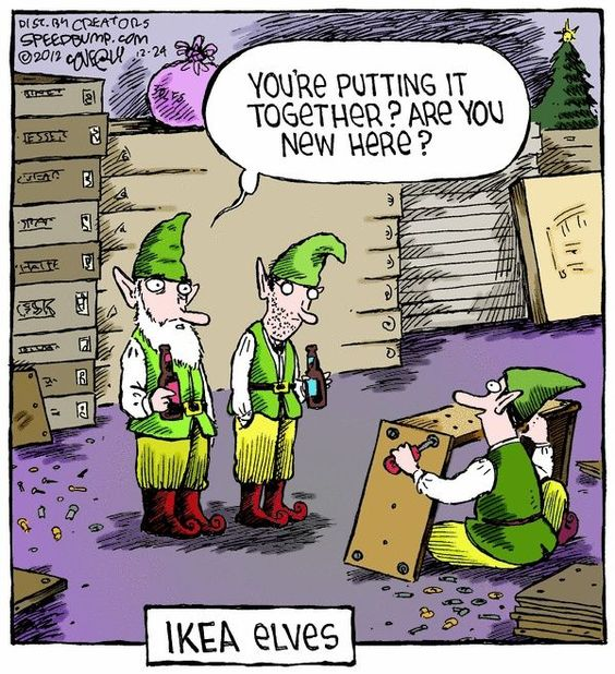 Funny Cartoons-Santa