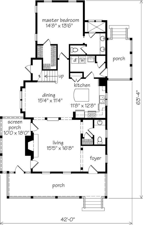 Turtle Lake Cottage Sl1211 Southern Living House Plans Cottage Plan Farmhouse Floor Plans