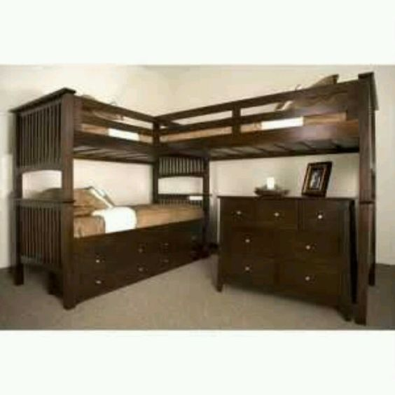 wonder if a crib would fit where the dresser is under these triple bunk beds bunk beds kids dresser