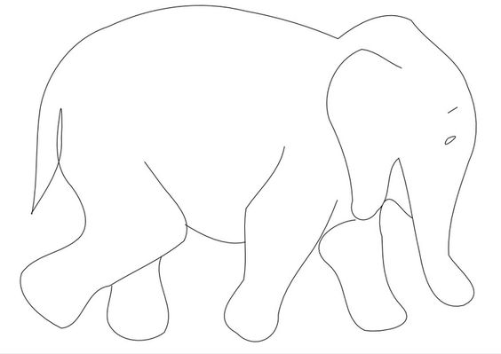 malvorlage elefant …  basteln  elefa…