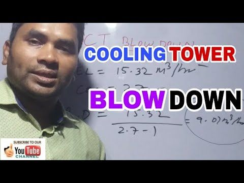 Cooling Tower Blowdown In 2020 Cooling Tower Tower Power Plant