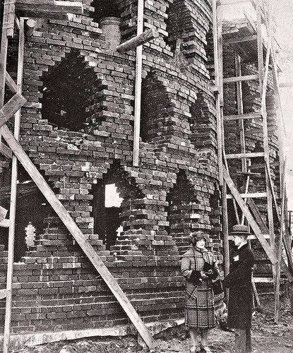 The Melnikov house in Moscow under construction (1928)