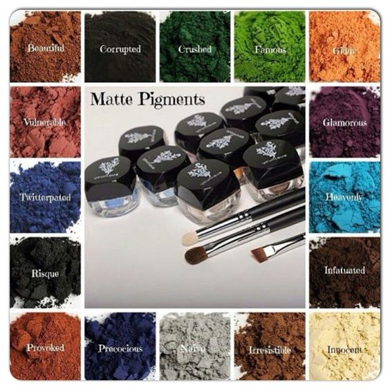 #younique eye pigments AKA eye shadow. Beautiful colors and highly pigmented. Add a drop of water to the brush before applying the eye shadows for a brighter color.   Youniqueproducts.com/luvpink