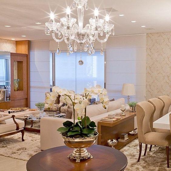 Sala De Estar E Jantar De Luxo ~ SnapWidget  Sala de estar e jantar integrados! Maravilhosa!!! Tons