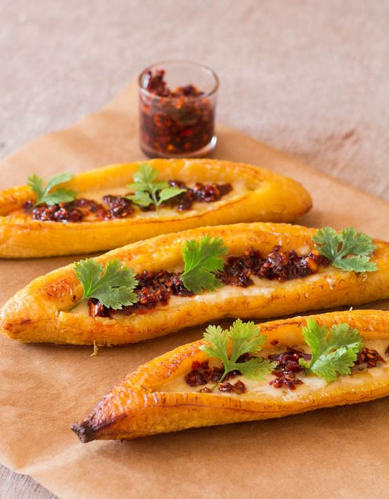 Baked Ripe Plantain Recipe - *GREAT easy baked plantain that bring an African twist to your  table*.    Recipes From A Pantry
