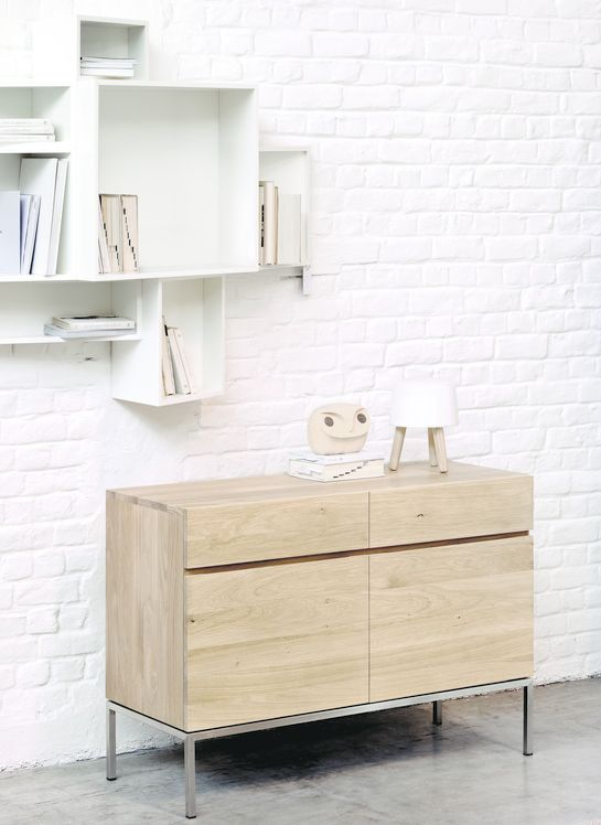 50949 Ethnicraft Design Alain Van Havre Buffet Chene Ligna 2 Portes 2 Tiroirs Dimensions L 110 X H 78 X P Mobilier De Salon Meuble Bois Massif Meuble