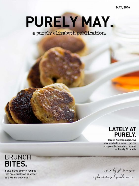 Purely May Magazine | purely elizabeth  Bite-sized brunch recipes that are equally as adorable as they are delicious!