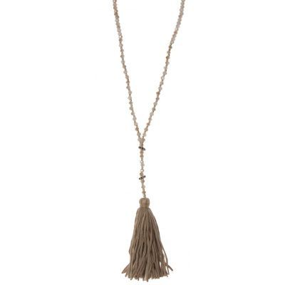 Lina Leather Tassel Necklace