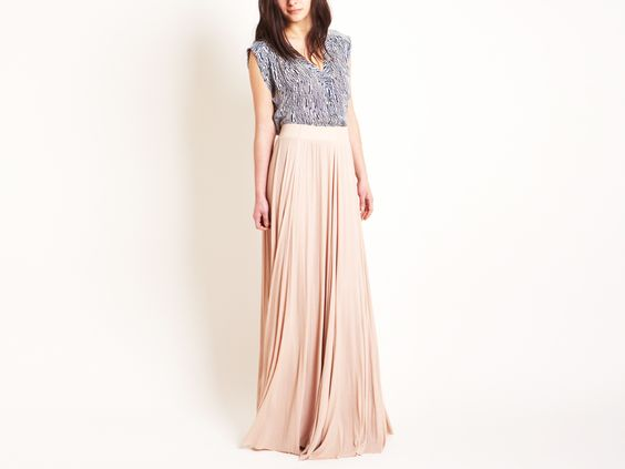Maxi Rib Skirt by Rachel Pally