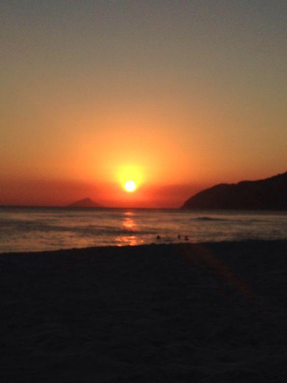 Beautiful sunset in Maresias, Brazil!