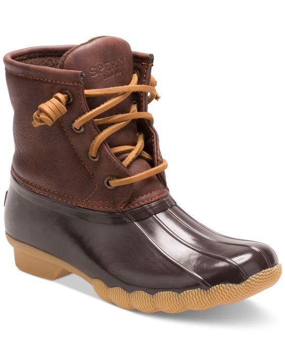 Sperry Girls' or Little Girls' Saltwater Boots